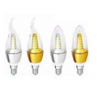 Bulbos 10 unids E14 Lámpara LED 7W 9W Lampada Vela Luz SMD2835 Bulbo Cálido Blanco / Frío Blanco Ahorro de energía AC220V Llight Llight
