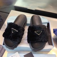 2021 이탈리아 패션 럭셔리 브랜드 클래식 양고기 모피 플랫폼 슬리퍼 샌들 여성을위한 1 피트 뮬 캐주얼 슬리퍼 로퍼 여름 신발