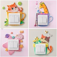 Switch sticker soft glue luminous unicorn 3d stereo Wall Stickers socket protective cover simple decorative OWE9905