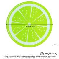 جديد جولة سيليكون الشمع داب حصيرة سيليكون dabbing حصيرة الليمون تصميم غير عصا dabber ورقة dab وسادة ل الجافة عشب الشمع النفط EWE6322