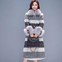 New Stylish Runway 2019 Designer winter Wool Coat Women thick trench Long cashmere coat Overcoat Wool Blends Jacket Femme 904 N0pT#