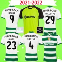 SCP LISBON 21 22 Футбол Джетки Sporting Clube 2022 Phellype B.fernandes S. Оконы ретро Джерси Лиссабона C.ronaldo Мужчины Футбольная рубашка Униформа