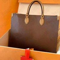 Onthego GM 2 طريقة حمل حقيبة m44576 محدودة الطبعة عكس monograms العملاقة حقيبة يد جلد المرأة مصمم الفم الصبر crossbody مقبض أكياس 41 سنتيمتر