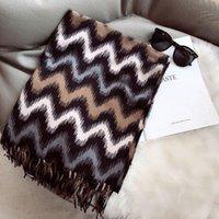 Scarves Fashion Winter Cashmere Scarf Women Thick Warm Shawls Wraps Lady Stripe Tassels Pashmina Blanket Quality Foulard