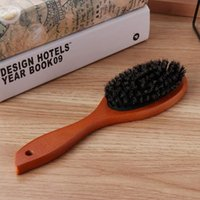 Hair Brushes Natural Boar Bristle Hairbrush Anti-static Scalp Paddle Brush Massage Comb Beech Wooden Handle Styling Tool