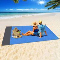2x2.1m или 2 * 1.4M Пляжный коврик для пляжа Водонепроницаемые карманные ковры для кемпинга Матрас для кемпинга Портативный легкий прокладки Наружная подушка для пикника