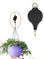 Garden Supplie Planta Gancho Pulley retráctil Colgante Cesta de flores Colgador para Potes y Pájaros Alimentador KDJK2106