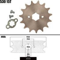 Parts Front Engine Sprocket 530 15T 20mm For Chain With Locker Motorcycle Dirt Bike PitBike ATV Quad