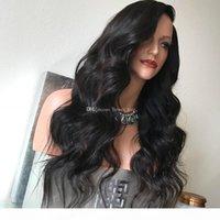 Parrucche piene del merletto della parte superiore della seta per le donne dei capelli del remy 130% dei parrucche dei capelli umani con capelli del bambino della parrucca del merletto Glueless Wove del corpo