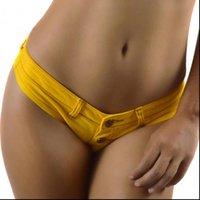 Club nocturno mujeres pantalones cortos usan tangas sexy denim damas corta cintura baja bikini verano playa spandex micro mini jeans