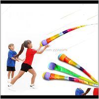 Aktiviteler el atma şerit gökkuşağı topu kum torbaları fasulye torbası çocuk açık oyunlar çocuklar oyuncaklar erkek kız 5 6 7 8 9years jeux enfant Oiz6u