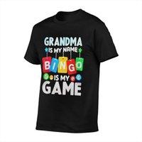 Camisetas para hombres La abuela es mi nam bingo juego anime hombres camiseta camiseta de gran tamaño pareja motocross