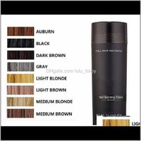 Loss Products Care & Styling Tools Productshair Fiber Keratin Powder Spray Thinning Hair Concealer 10Colors Drop Delivery 2021 3Debx
