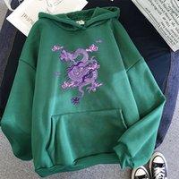 Women's Hoodies & Sweatshirts Moletom feminino com capuz, china, estampa de dragão, hip hop, harajuku, tamanho grande, moletom roupas femininas, top EE7Z