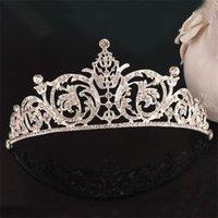NUEVO Fiesta de bodas Joyería Cristales nupciales Tiaras para mujer Compromiso Tiara Crown Diadema Accesorios para el cabello Joyería de lujo de la moda 82 m2