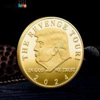 트럼프 2024 동전 기념 공예 revenge 투어 아메리카 저장 다시 금속 배지 골드 실버 4966