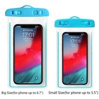 Aydınlık Su Geçirmez Telefon Kılıfı Kuru Çanta Büyük Boy Için iPhone 12 Pro Max 11x XR Samsung S10 S20 Ultra XS 7 8 Sualtı Suya Dayanıklı Durumda IPX7