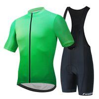New Fualrny Cycling Jersey Set classic MTB Cycling Bib Shorts Kit Reflective Custom Bike Clothes Bicycle Clothing Maillot Ciclis