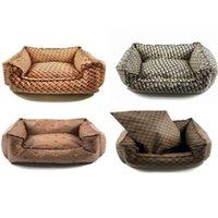 Moderne Winter Dog Kennels Mode Lederen Luxe Designer Net Houd Warm Tij merk Pet Kennel Mat