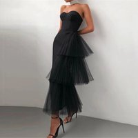 Women 2021 Satin Tulle Evening Party Dress Sweetheart Strapless Ankle Length Formal Prom Pageant Gowns for Juniors