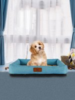Pet Beds Summer Dog Cat Cushion Soft Puppy Sleep Bed Kennel Cool Bamboo Mat Blanket Matress For Small Medium Large Dogs Kennels & Pens