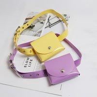Pacote antigo da cintura da cintura transparente PVC Multicolor Cosmetic Bag Bolsa Transparente Bolso Impermeável Logotipo Customizável Entrega Gratuita