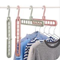 Appendiabiti multi-porto Abbigliamento rack Abbigliamento multifunzione Asciugamani Hanger Hangekeeping Organizzazione Magic Rack