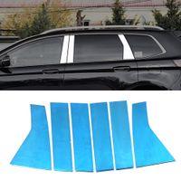 Автомобильные аксессуары из нержавеющей окна Средний столбец Chrome Pad Trim наклейка наклейки наклейки кадра наружные украшения для Ford Edge 2015-2019