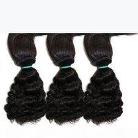 브라질 처녀 물 웨이브 묶음 묶음 묶음 인간의 머리카락 3 번들 처리되지 않은 원시 최고 품질의 머리카락 확장 10 18 인치