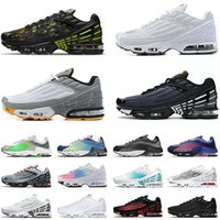 Airs Maxs Tn Plus 3 Tuned III Tns 2 II Mens Womens Running Shoes All Black White Topography Pack Blue Smoke Grey Tiger Laser Green Airmaxs Sports Sneakers Trainers