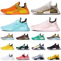حذاء رياضي مقاس كبير 13 من Adidas Pharrell Williams NMD Human Race V1 V2 حذاء رياضي رجالي نسائي شوكولاتة أبيض أسود إضافي عين برتقالي داش أخضر أحذية رياضية 47 يورو