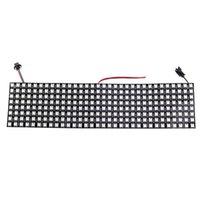 8 * 32 픽셀 256 픽셀 WS2812B 2812 디지털 유연한 LED 프로그래밍 패널 개별적으로 어드레스 가능한 RGB 전체 드림 컬러 DC5V 스트립