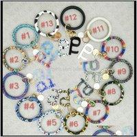 Favor Event Festive Party Supplies Home & Garden Drop Delivery 2021 Sale Key Chain Ring Holder Pu Leather Tassel Wristlet Keychains Bracelets