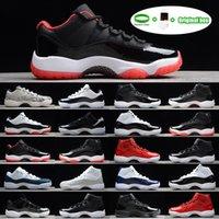 Air Jordan 11 Jordans AJ11 shoes [سوار + الجوارب + المربع الأصلي] البلاتين تينت عالية كونكورد 45 11S أحذية رجالي أحذية كرة السلة 11 نساء حفلة موسيقية ليلة أسطورة الأزرق bred cap