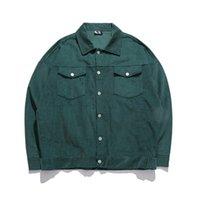 Vestes pour hommes vestes à poitrine unique manteaux japonais vintage style solide manches longues vestes hip hop hip hop