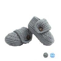 Детские трикотажные спущенные вязание крючком повседневные туфли ручной работы 2021 первые ходунки