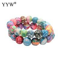 Enlace, cadena yyw 2021 6 unids Moda 6/8/10 / 12mm Polímero Arcilla y pulsera de las mujeres Venta de regalos de joyería hermosa