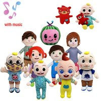 Todo estilo 15-33cm Cocomelón juguetes de felpa con música de dibujos animados Series de TV Familia JJ Hermana Mamá y papá Juguete Dall Dall Niños Regalo Relleno Muñeca Relleno