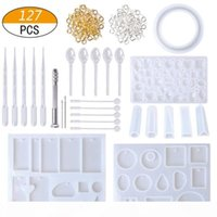 1 Set Silicone UV Resin Mix Stick Dropper Clasp Jewelry Tools Casting DIY Making Necklace Accessories Molds Epoxy Resin