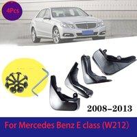 4Pcs Plastics Car Mud Flaps for Mercedes Benz E class E200 E260 E300 2008-2020 Front Fender Rear Splash Guards Mudguards BLACK