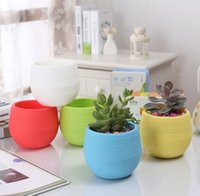 Gardening Flower Small Colorful Nursery Planter Garden Decor Succulent Plant Plastic Pots Home Planters Supplier