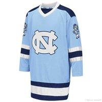 Custom 2020 North Carolina Tar Heels University Hockey Jersey Embroidery Stitched Customize any number and name Jerseys