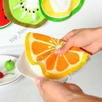 Lovely Fruit Print Hanging Kitchen absorbent Hand Towel Microfiber Towels Quick-Dry Cleaning Rag Dish Cloth Wiping Napkin children's handkerchief