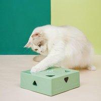 Zabawki Cat Zabawki Zabawki Elektryczne Magiczne Box Interaktywny Dokuczliwy Kij do Bionic Inteligentne Indukcja USB AI C4W5