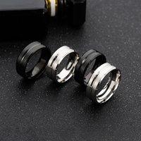 Designer Rings Luxury Love Ring Men's wedding BASIC black pure 8MM stainless steel matte brushed , Christmas gift