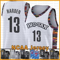 Brooklyn.Net Basketball Jersey 2021 New Kevin James 13 Harden 7 Durant Kyrie 72 Biggie 11 Irving Gold Exército Verde Mens