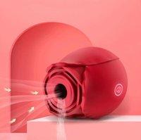 Rose vibrateur clitoral sucer la languette d'aspiration intense lèche stimulation stimulateur stimulateur de mamelon masseur femme jouets sexuels pour femme orale ottie
