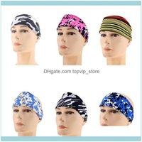 Safety Athletic Outdoor As & Outdoorsmen Women Sports Yoga Gym Sweatband Headband Stretch Hair Band Drop Delivery 2021 Qz7As