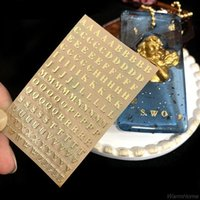 5PCs 3mm alfabetbokstäver Chunky Glitter Epoxy Resin Dekorativa klistermärken Engelska nummer UV-fyllningar F20 21 Presentförpackning