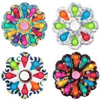 DHL Shipping Colorful Popit Fidget Toys Spinner Stress Relief 12 Sides Spinner It Pop Stress Relief Fidget Toys for Anxiety